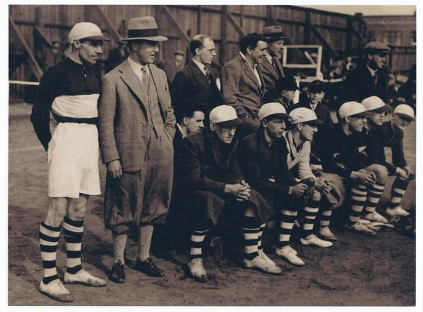 The BATS British American Tobacco Team with John Moores 2nd from left in hat