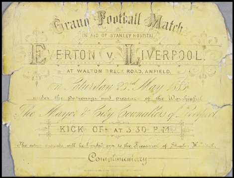 Everton FC Matches in aid of Hospitals 1888-1959